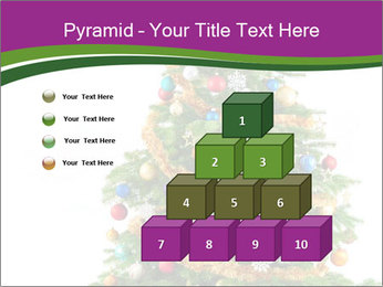 Christmas tree with colorful ornaments PowerPoint Template - Slide 31