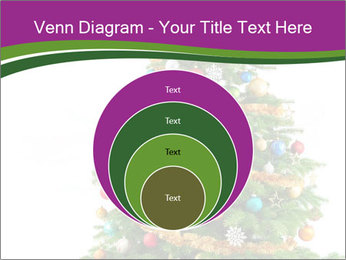 Christmas tree with colorful ornaments PowerPoint Template - Slide 34