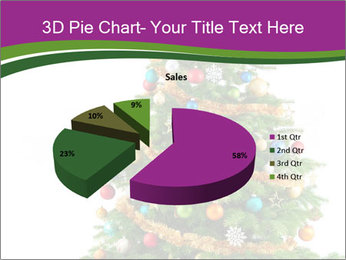 Christmas tree with colorful ornaments PowerPoint Template - Slide 35