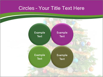 Christmas tree with colorful ornaments PowerPoint Template - Slide 38
