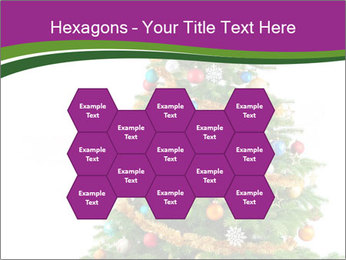 Christmas tree with colorful ornaments PowerPoint Templates - Slide 44