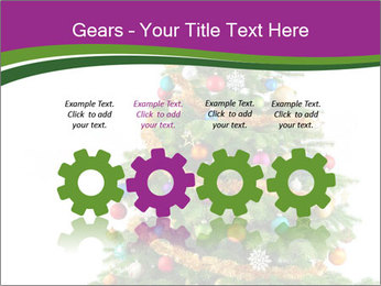 Christmas tree with colorful ornaments PowerPoint Template - Slide 48