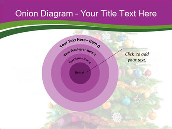 Christmas tree with colorful ornaments PowerPoint Template - Slide 61