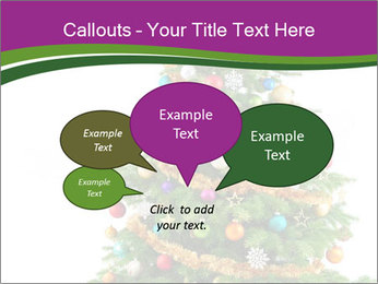 Christmas tree with colorful ornaments PowerPoint Template - Slide 73