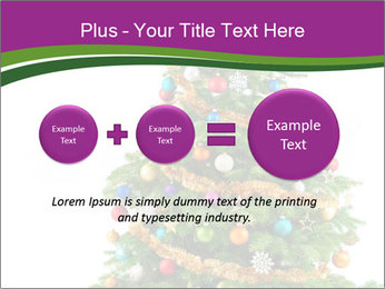Christmas tree with colorful ornaments PowerPoint Template - Slide 75