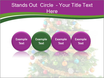 Christmas tree with colorful ornaments PowerPoint Template - Slide 76