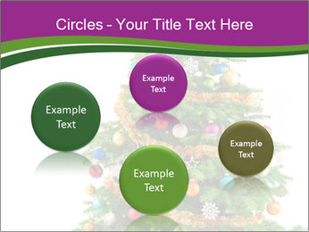 Christmas tree with colorful ornaments PowerPoint Templates - Slide 77