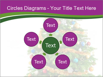 Christmas tree with colorful ornaments PowerPoint Template - Slide 78