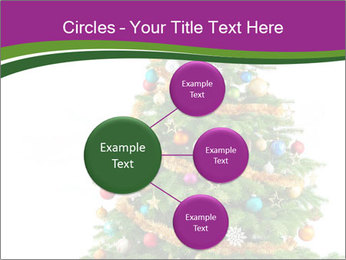Christmas tree with colorful ornaments PowerPoint Template - Slide 79