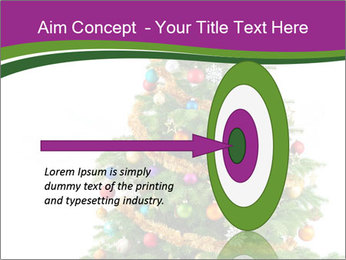 Christmas tree with colorful ornaments PowerPoint Template - Slide 83