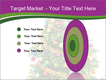 Christmas tree with colorful ornaments PowerPoint Template - Slide 84