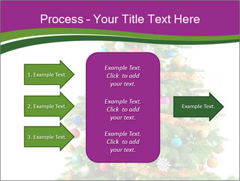 Christmas tree with colorful ornaments PowerPoint Template - Slide 85