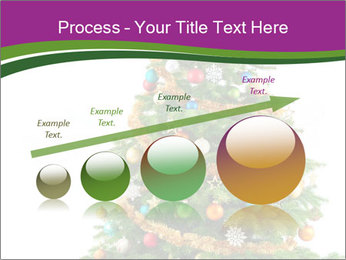 Christmas tree with colorful ornaments PowerPoint Template - Slide 87