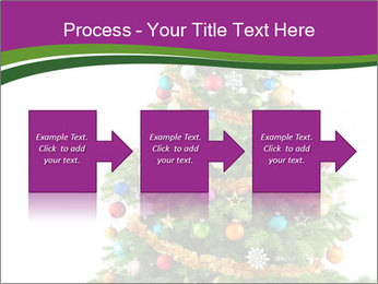 Christmas tree with colorful ornaments PowerPoint Template - Slide 88