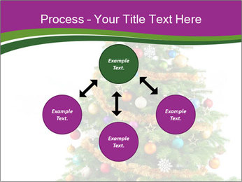 Christmas tree with colorful ornaments PowerPoint Template - Slide 91