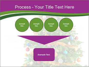 Christmas tree with colorful ornaments PowerPoint Template - Slide 93