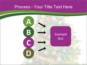 Christmas tree with colorful ornaments PowerPoint Template - Slide 94