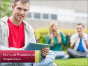 Smiling college boy PowerPoint Templates