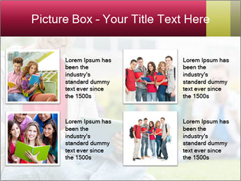 Smiling college boy PowerPoint Template - Slide 14