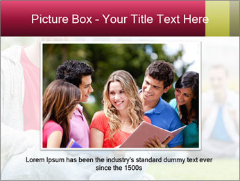 Smiling college boy PowerPoint Template - Slide 15