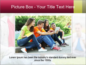 Smiling college boy PowerPoint Template - Slide 16