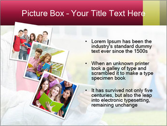Smiling college boy PowerPoint Template - Slide 17