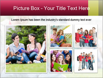 Smiling college boy PowerPoint Template - Slide 19