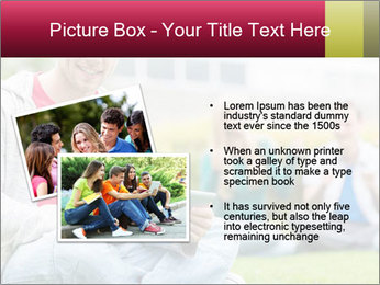 Smiling college boy PowerPoint Template - Slide 20