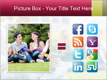 Smiling college boy PowerPoint Template - Slide 21
