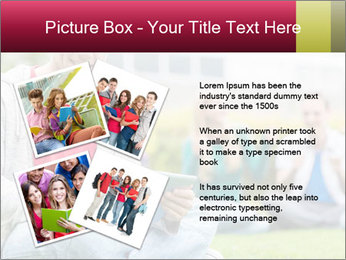 Smiling college boy PowerPoint Template - Slide 23