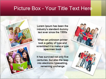Smiling college boy PowerPoint Template - Slide 24