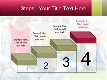 Smiling college boy PowerPoint Template - Slide 64