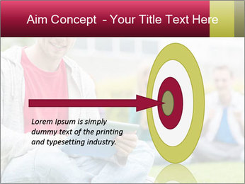 Smiling college boy PowerPoint Template - Slide 83