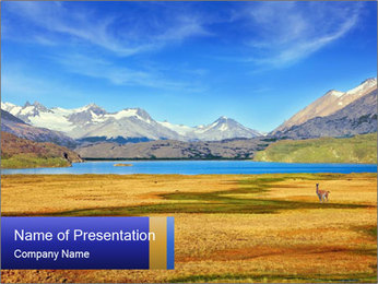A blue lake PowerPoint Template - Slide 1