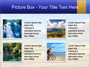 A blue lake PowerPoint Template - Slide 14