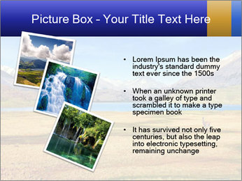 A blue lake PowerPoint Template - Slide 17