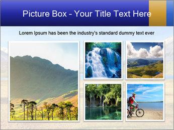 A blue lake PowerPoint Template - Slide 19