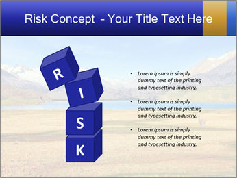 A blue lake PowerPoint Template - Slide 81