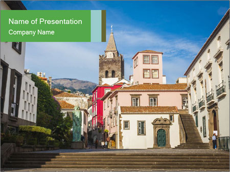 The old historic town PowerPoint Template