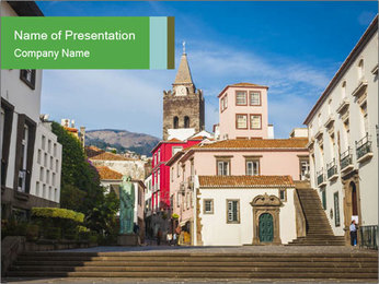 The old historic town PowerPoint Template - Slide 1
