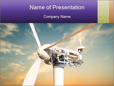 Wind turbine PowerPoint Templates