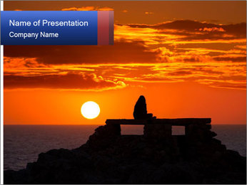 Orange sunset PowerPoint Templates - Slide 1
