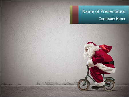 Fast Santa PowerPoint Templates