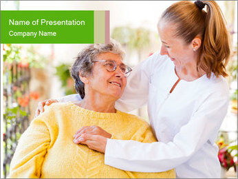 Home care services PowerPoint Template - Slide 1