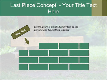 Park bench under tree PowerPoint Template - Slide 46
