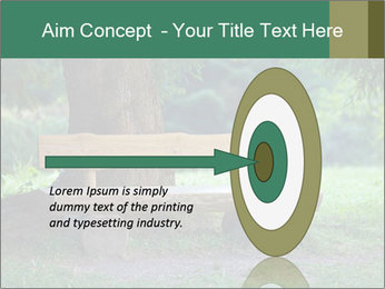Park bench under tree PowerPoint Template - Slide 83