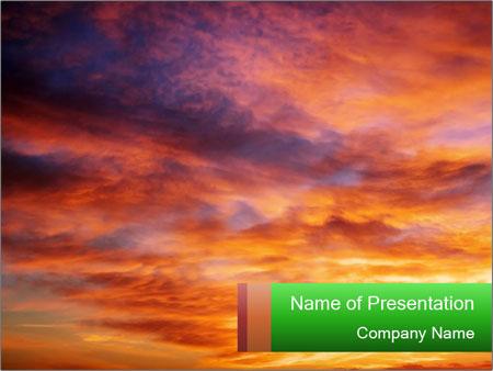 Sunset sky PowerPoint Template