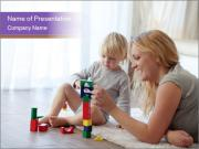 Mother with a child PowerPoint Templates