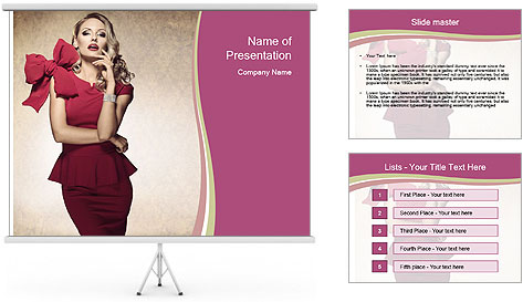 Attractive girl PowerPoint Template