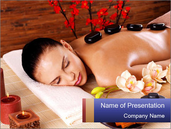 Adult woman relaxing in spa PowerPoint Templates - Slide 1